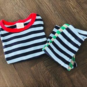 Hanna Andersson multicolor Boys striped pjs